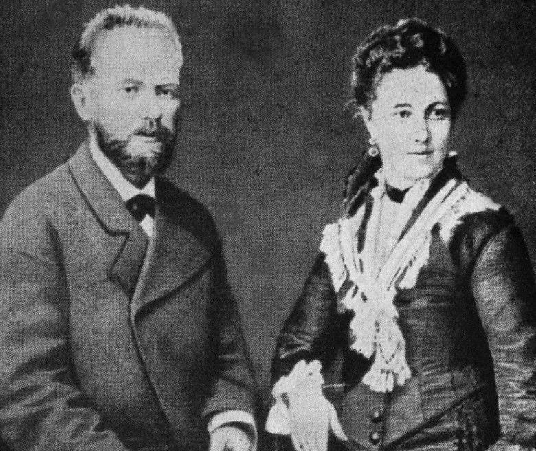 Чайковский и его жена Антонина